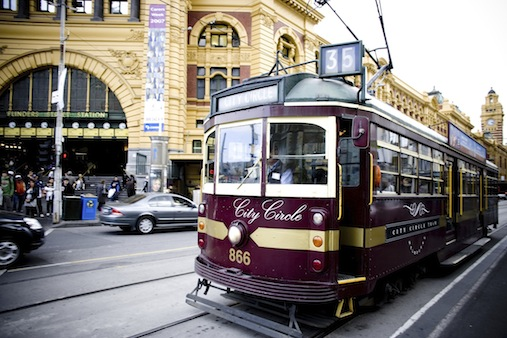 City Circle Tram outside Flinders Street Station