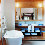 Teak-Style Bathroom Uma by COMO Paro Bhutan Luxury Getaway Holiday Uniq Luxe