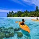Ocean Canoeing Angsana Velavaru Maldives Honeymoon Luxury Holiday Getaway Retreat Uniq Luxe