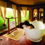 Pool Villa Bathroom Banyan Tree Madivaru Maldives Honeymoon Getaway Holiday Uniq Luxe