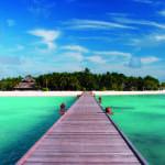 Island Jetty Banyan Tree Vabbinfaru Maldives Honeymoon Getaway Holiday