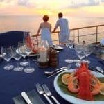 Sunset Dinner Banyan Tree Vabbinfaru Maldives Honeymoon Getaway Holiday