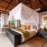 Teak Style Bedroom Fregate Island Private Seychelles