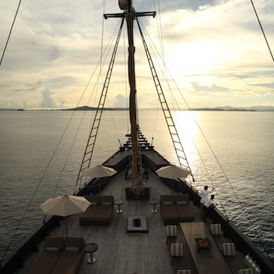 alila purnama amazing sunset ship deck relaxation Luxury Getaway Holiday Uniq Luxe