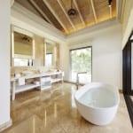 Maalifushi Maldives resort villa bath tub Luxury Holiday Retreat Getaway Honeymoon Uniq Luxe