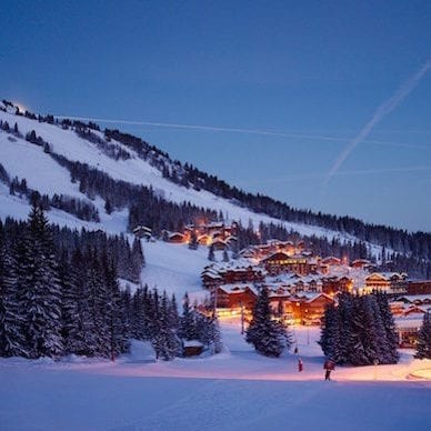 Aman Le Mélézin Luxury Ski Resort Courchevel Village France 1850 Night View
