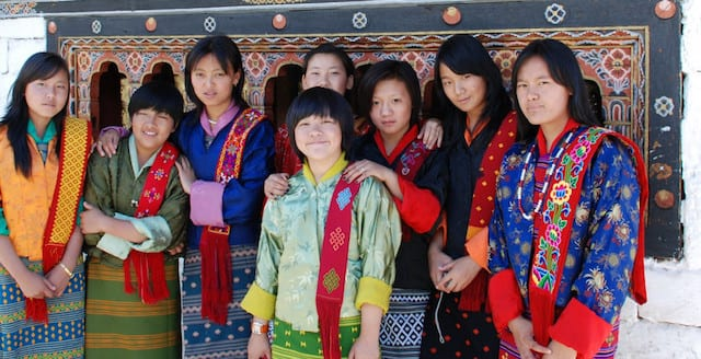The happy, smiling people of Bhutan are a familiar sight to those on a Bhutan trip