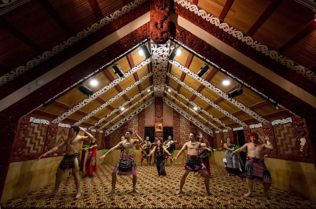 The Maori people performing their traditional dance