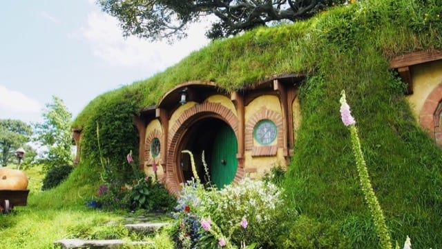 The famous home of the hobbits from Lord of the Rings with its recognisable short circular doors and windows in Hobbiton, where your New Zealand adventure begins.