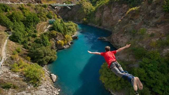 Dive head first into your luxury New Zealand adventure with an exciting bungy jump over a stunning river!