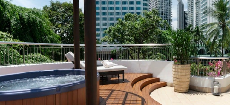 A huge wraparound balcony for kids to play and adults to relax on their luxury staycation!