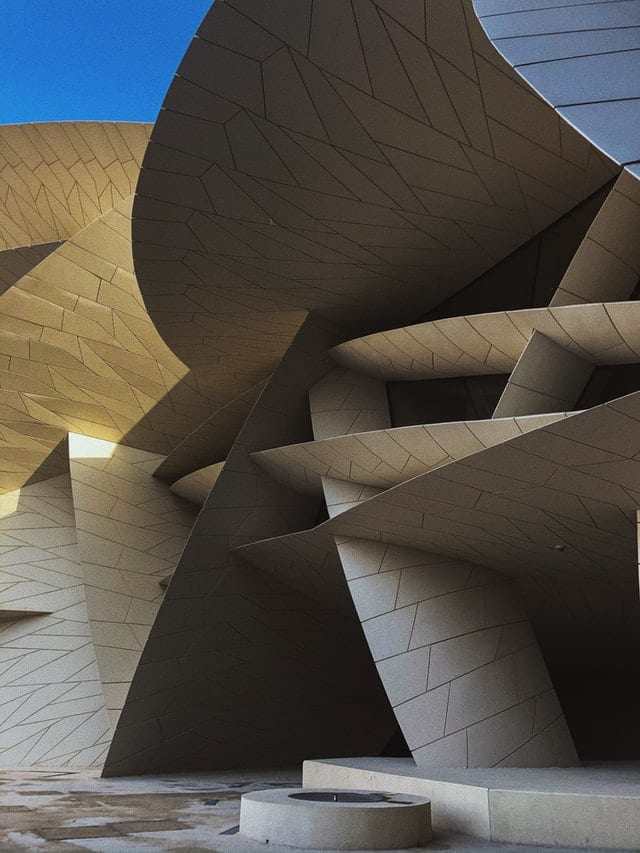 A modern museum doubles up as a stunning work of architecture in Doha, Qatar.