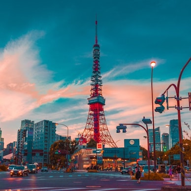 The view of the towering Tokyo Tower during sunset - one of the most magical sights you must behold in Japan