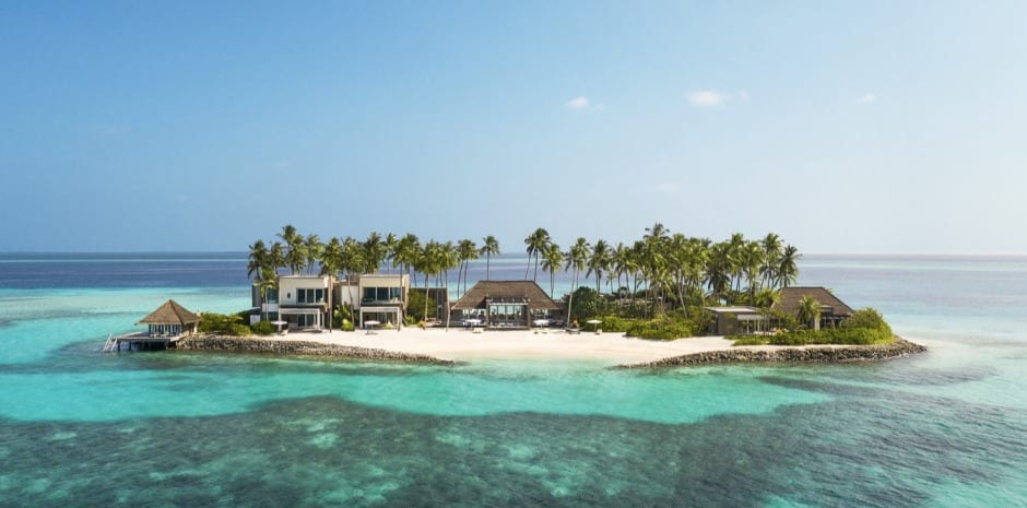 At Cheval Blanc Randheli, you can have a private island all to yourself in the middle of the Indian Ocean