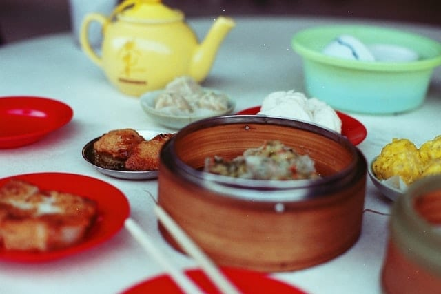 A delicious spread of dim sum and tea awaits tourists in the city of Hong Kong