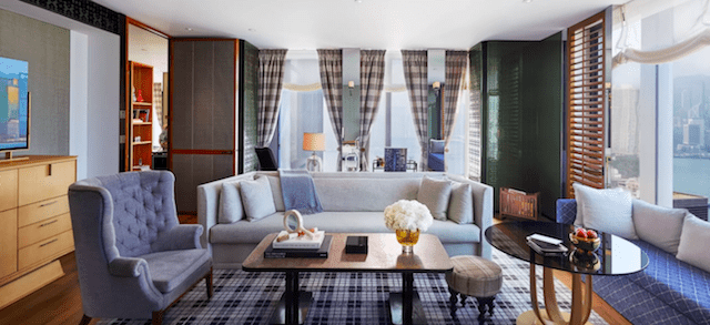 Tastefully designed suites with British vibes overlooking Victoria Harbour